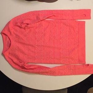 Luluemon long sleeve hot pink top